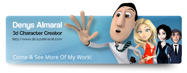 Happy Successful Business 3D Cartoon Character